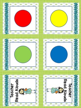 Blue Green Labels