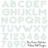 Blue Green Alphabet Clipart