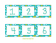 Blue Green Polka Dot Calendar Set