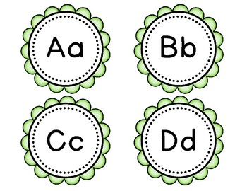 Blue & Green Scalloped Word Wall Headers