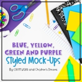 Blue, Green, Yellow and Purple Styled Images
