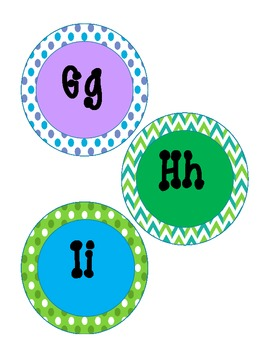 {Free} Blue, Green and Purple Word Wall Letters