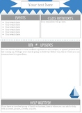 Blue & Grey Sailboat Newsletter (editable)