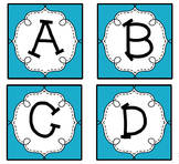 Blue Guided Reading Labels / Word Wall Letters aa-Z