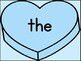 Blue Heart Dolch Pre-Primer Sight Word Posters and Flashcards