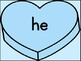Blue Heart Dolch Primer High Frequency Sight Word Posters