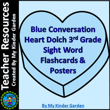 Blue Heart Dolch 3rd Grade High Frequency Sight Word Poste