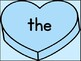 Blue Heart Fry List 1 In 1st 100 High Frequency Sight Word Posters & Flashcards
