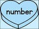 Blue Heart Fry List 4 In 1st 100 High Frequency Sight Word Posters & Flashcards