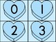 Blue Heart Number Flashcards 0-100