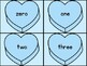 Blue Heart Number Word Flashcards Zero To One Hundred