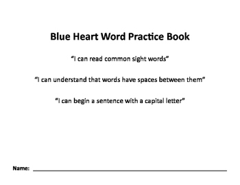 Nellie Edge Blue Heart Word Practice Book