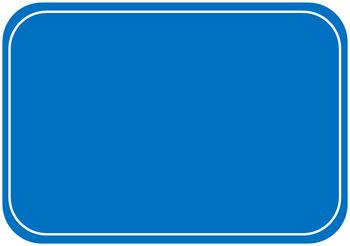 Blue Highway Sign - Blank