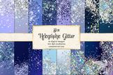 Blue Holographic Digital Paper