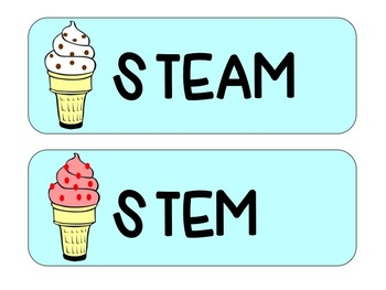 Blue Ice Cream Schedule Cards