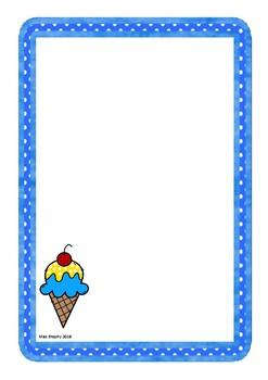Blue Ice Creams Worksheets