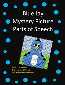 Blue Jay Mystery Picture Parts of Speech