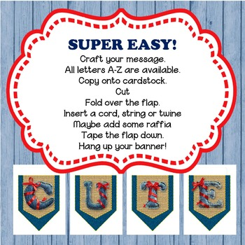 Blue Jeans and Burlap BANNER / PENNANT