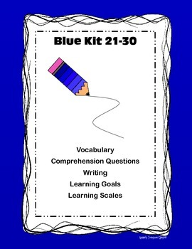LLI Blue Kit 21-30 Comp/Writing/Vocab/Learning goals and scales