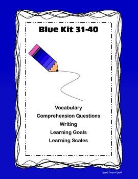 LLI Blue Kit 31-40 Vocab Comp Learning Goal/Scales