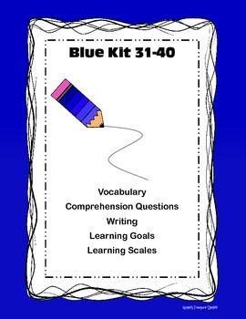 Blue Kit 31-40 Vocab Comp Learning Goal/Scales