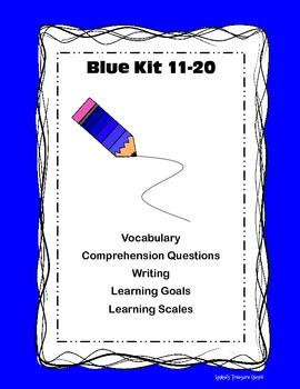 LLI Blue Kit Lessons 11-20 Comp/Writing/Vocab/Learning Goal/Scales
