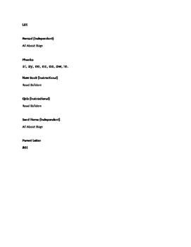 Blue LLI Lesson Guides Lessons 61-70 Level I