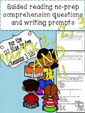 Blue LLI No-Prep Comprehension Questions and Writing Prompts Parts 1-4! (1st Ed)