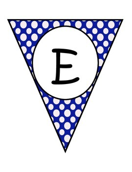 Blue Large Dots Welcome Banners in English and Spanish