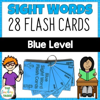 New Zealand Sight Words - Blue Level Flash Cards