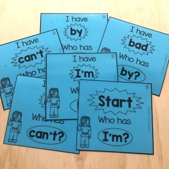 New Zealand Sight Words Blue Level I have Who Has Game