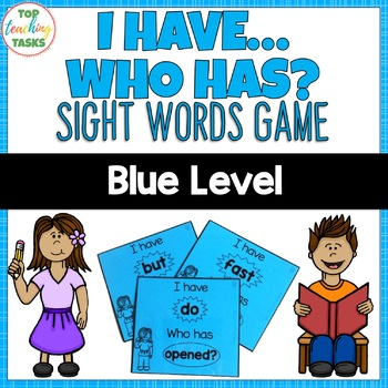 Blue Level Sight Word Game - I have Who Has - Year One NZ