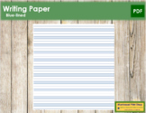 Blue-Lined Writing Paper - Primary Montessori