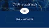Blue Marble PRETTY! PowerPoint Template Professional Unique