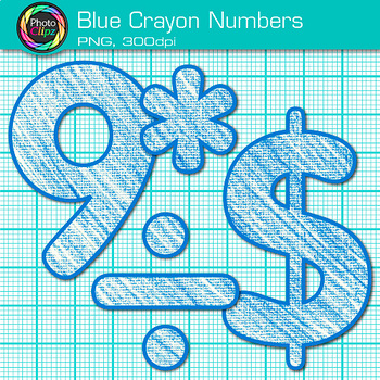 Blue Math Numbers Clip Art {Great for Classroom Decor & Resources}