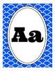 Blue Mermaid, Fish Tail, Under the Sea-Themed Alphabet Pos