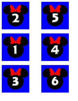 Blue Minnie Date Cards