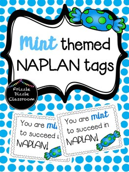 Blue Mint Themed NAPLAN Test Tags!