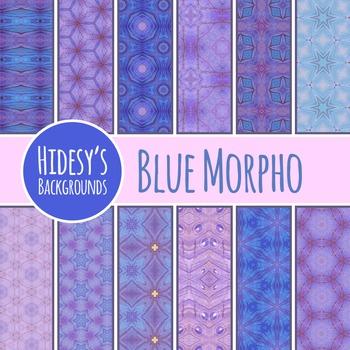 Blue Morpho Backgrounds / Digital Papers / Patterns Clip Art Commercial Use