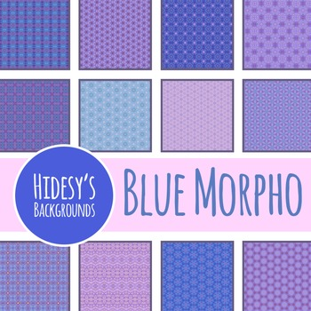 Blue Morpho Backgrounds / Digital Papers / Patterns Clip Art Commercial Use