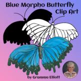 Blue Morpho Butterfly Clip Art