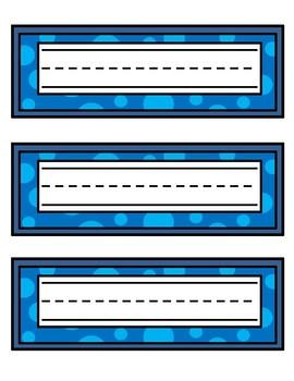Blue Name Tags - Printable Name Tags
