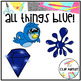 Blue Color Objects Clip Art