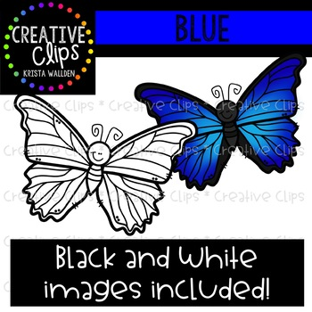 Blue Objects Clipart {Creative Clips Clipart}