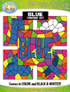 Blue Objects Color By Code Clipart {Zip-A-Dee-Doo-Dah Designs}