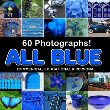 Photos Photographs BLUE OBJECTS, clip art