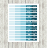 Blue Ombre Planner Printable