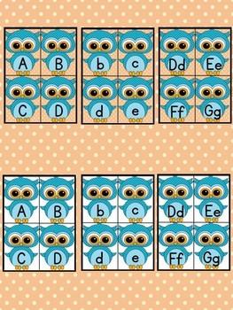 Blue Owl Alphabet Letter Flashcards