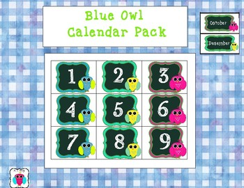 Blue Owl Calendar Pack
