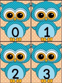 Blue Owl Math Number Flashcards 0-100